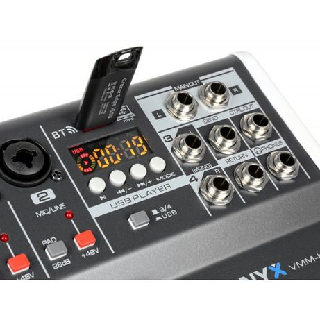 Mikser 4 kanałowy Vonyx VMM-K402 DSP