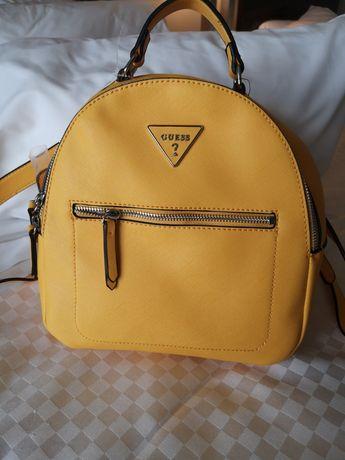 Plecak Guess w super żółtym kolorze