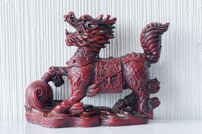 Китайский сувенир статуэтка фигурка Небесный лев Собака фу Китай