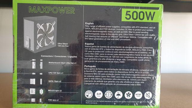 Vendo fonte de Alimentação 500watt novo