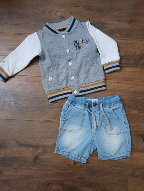 Spodenki jeans zara bluza Reserved r 74