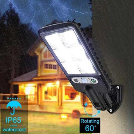 Уличный Фонарь-прожектор 30W на солнечной батарее c датчиком движения