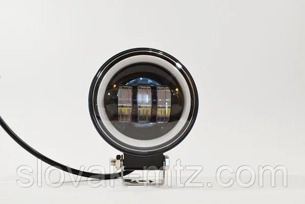 Дополнительная светодиодная LED фара 45Вт Круглая (Ангельский Глаз)