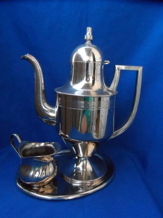 Кофейник Молочник на подставке Нержавейка б/у Европа Кропивницкий - изображение 1
