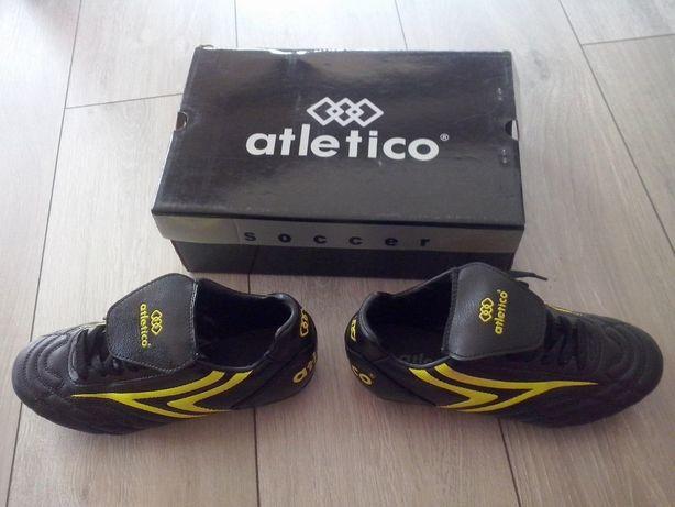 """Buty korki Atletico -rozmiar """"36"""" czarno- żółte"""