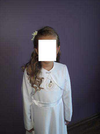 Sukienka / alba komunijna , bolerko rozmiar 134-140 + gratisy