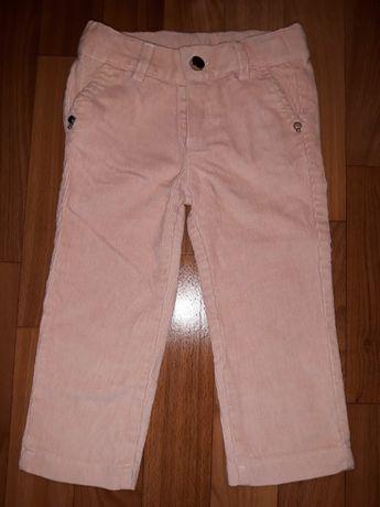 Вельветовые штаны джинсы на девочку 1-3 года