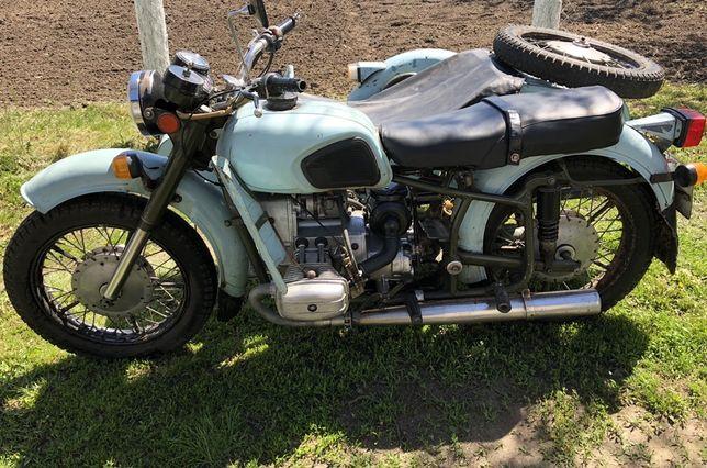 Мотоцыкл Днепр мт 11 мото с прицепом коляской