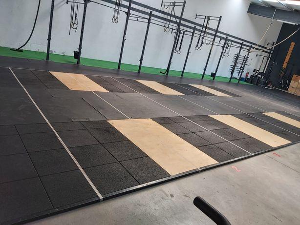 Plataforma de Weightlifting e Crossfit