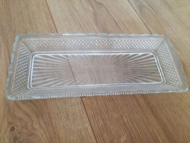 Naczynie, tacka z krysztalu stare