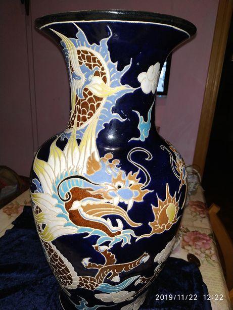 Ваза напольная с двумя драконами 53 см
