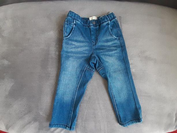jeansy chłopięce Zara r.92