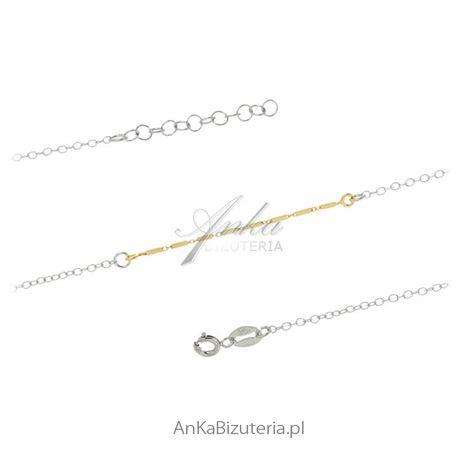 ankabizuteria.pl Bransoletka srebrna Delikatna biżuteria damska