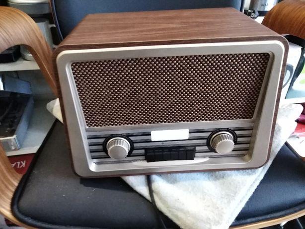 Radio cyfrowe w stylu retro drewno DAB+ Soundmaster NR920DBR