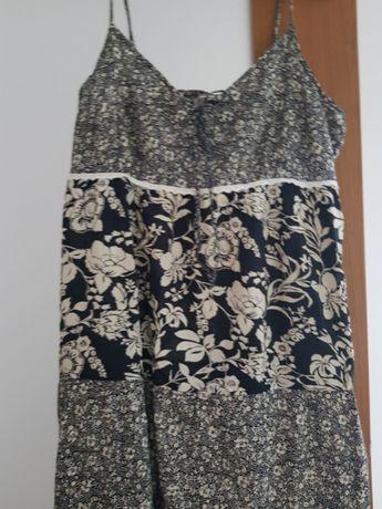 Sukienka na lato letnia na ramiączka czarno biała 44 xxxxl
