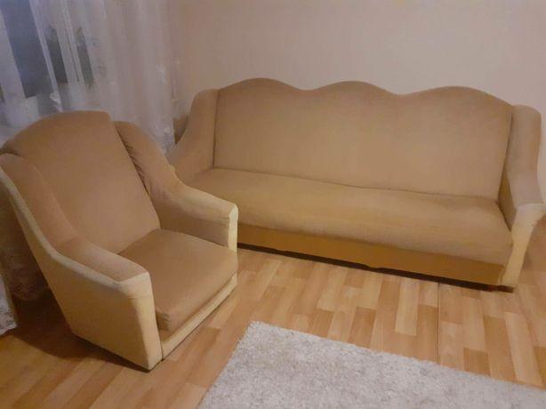 Komplet wypoczynkowy, kanapa, sofa, dwa fotele