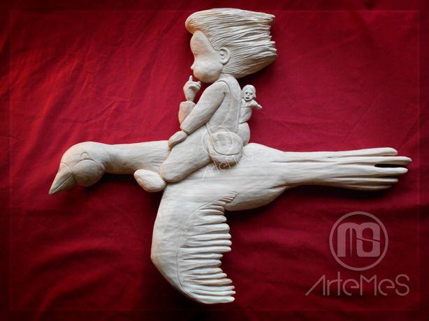 Rzeźba - płaskorzeźba - zamiana ZA DREWNO do rzeźbienia