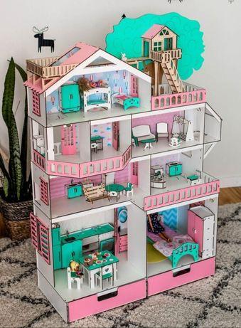 ДОМ ПРИКЛЮЧЕНИЙ кукольный домик NestWood для кукол LOL, Барби