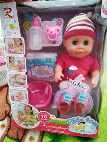 Новый пупс, кукла, кушает, ходит на горшок