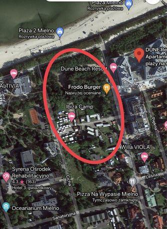 Działka do wynajęcia w pierwszej linii zabudowy nadmorskiej - Mielno