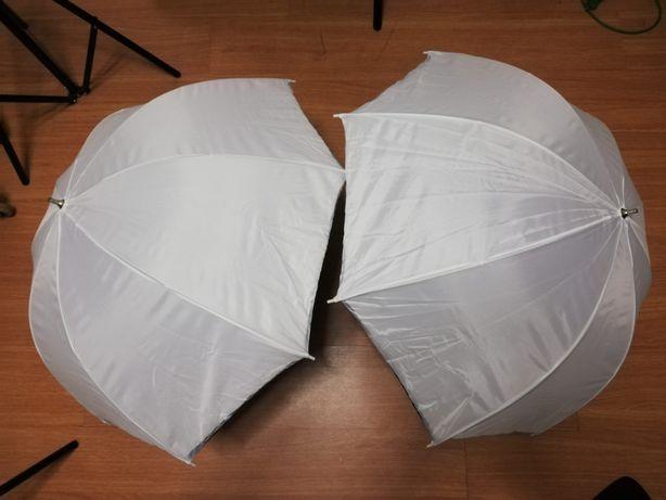 2 Sombrinhas Difusoras Translúcidas c/ Reflector Walimex - 72cm