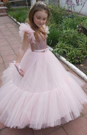 Платье + печатки + диадемка