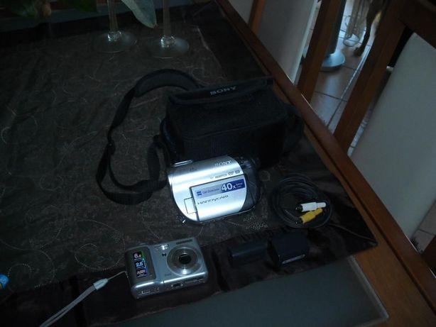 Vendo camara de filmar + máquina fotografica
