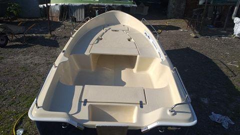 Łódka wiosłowa wędkarska DORA 5 osobowa + platforma