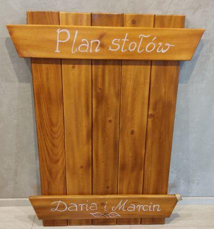 Tablica rozsadzenia gości, plan stołów