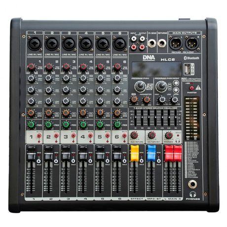 DNA HLC 6 analogowy mikser audio 6 kanałów usb Bt