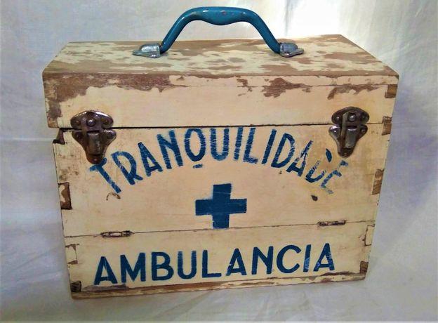 Caixa Madeira Ambulância Tranquilidade