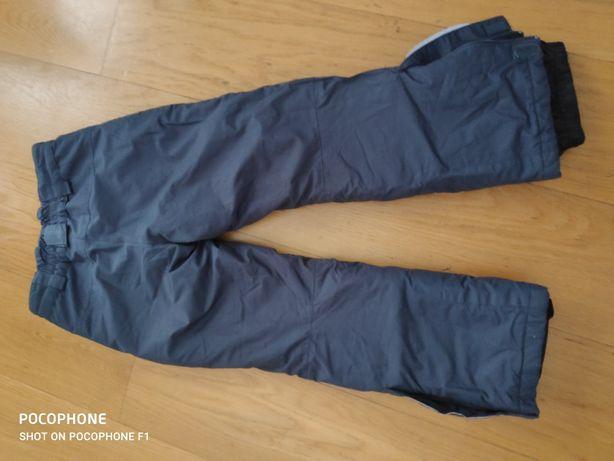 REZERWACJA Spodnie narciarskie spodnie szare dziewczynka rozm 122 128