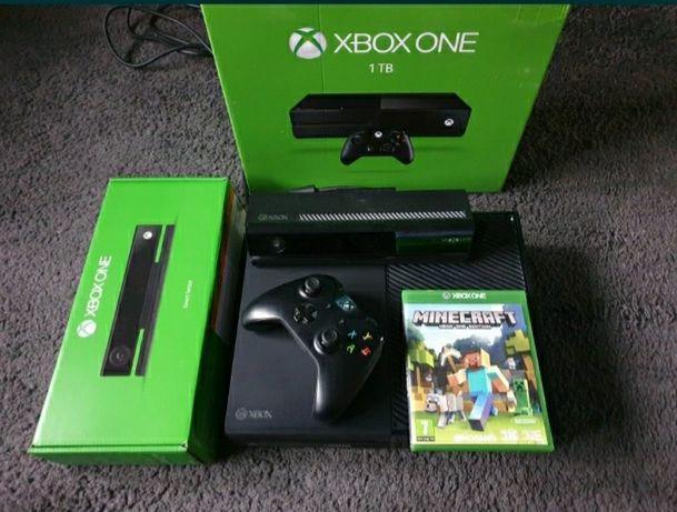 1TB Xbox One + KINECT + 200 GIER ( Minecraft, GTA 5 , Fifa 21 ) BDB
