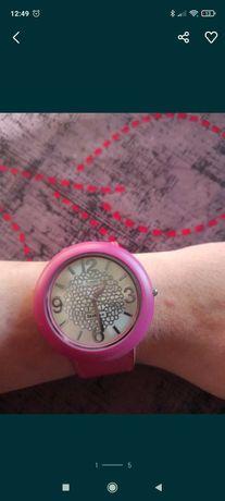Relógio Rosa, mostrador com cristais NOVO