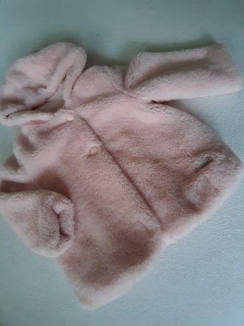 Różowe futerko 86 dla dziewczynki Mayoral jak nowe