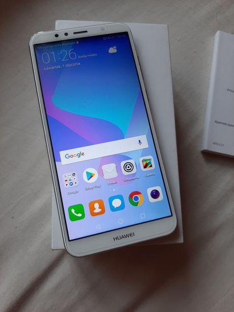 Hyawei y6 2018 biało złoty dual sim nowy komplet folia zamiana na?