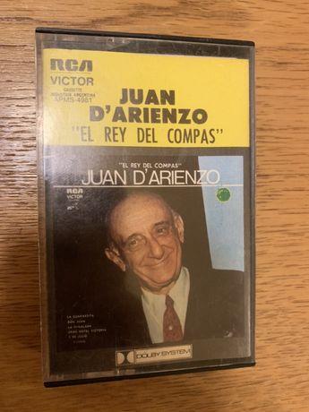 Cassete musica Juan D Arienzo Argentina 1982