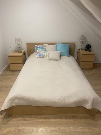 Komplet mebli sypialnia Malm Ikea