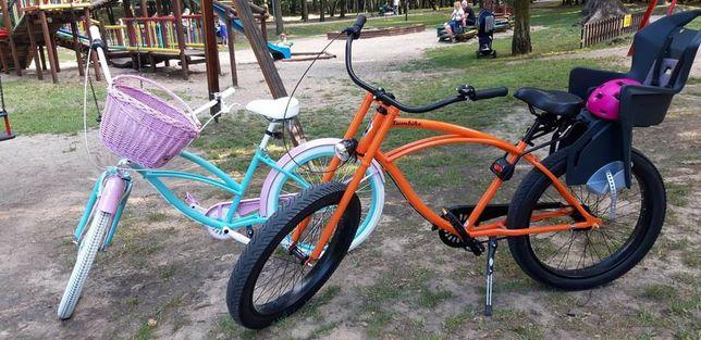 Rowery Plumbike, fotelik, uchwyt x2,zapięcia x2