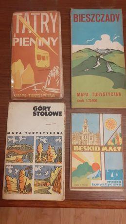 Mapa lata 70te Tatry, Pieniny