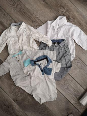 Ubranka chłopięce rozm 74 koszule, body, spodnie