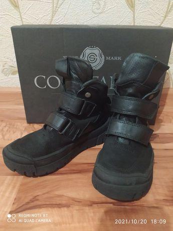 Кожаные деми ботинки на девочку