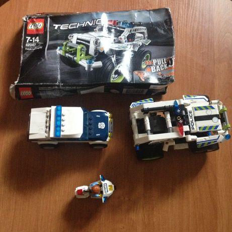 klocki lego city 60007 szybki wyścig, technic 42047 radiowóz pościgowy