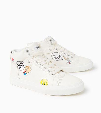 Botki zara sneakersy looney tunes 29 trampki