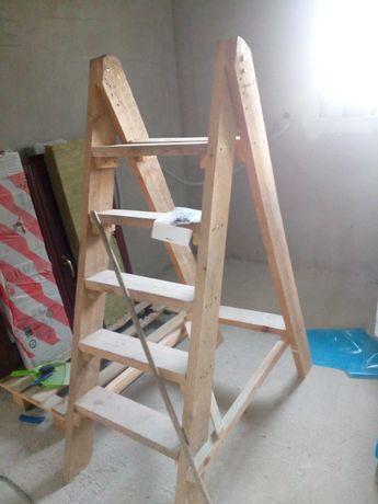 Drabina własnej konstrukcji - mocna i stabilna wys. ok 1,4m