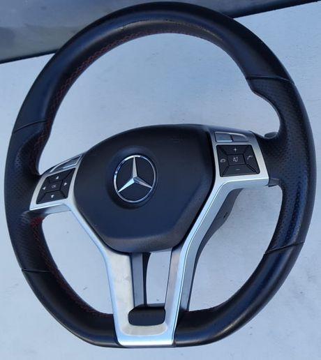 Kierownica skórzana Multifunkcyjna Mercedes C klasa W204 lift AMG