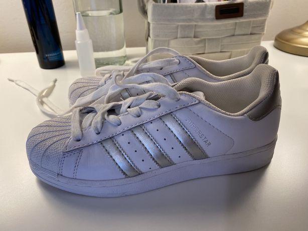 Adidas Superstar Originais - prateado - Novos