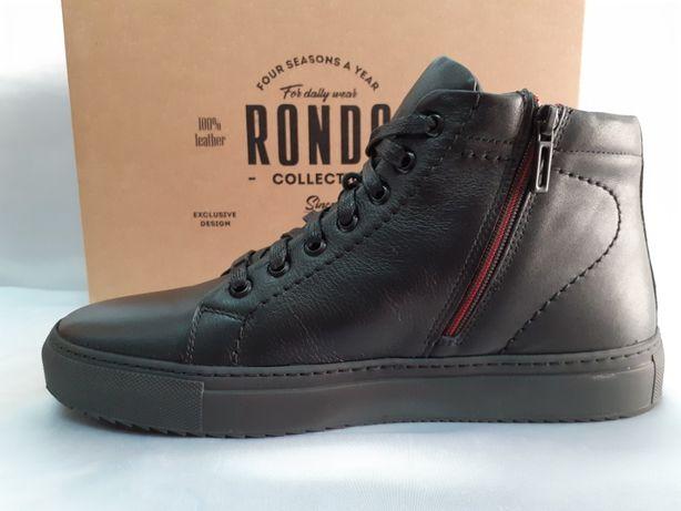 Демисезонные кожаные ботинки под кеды Rondo 39,40,41,42,43,44,45,46р.