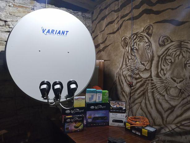 установка і ремонт спутникового телебачення,Т2,ViASAT.