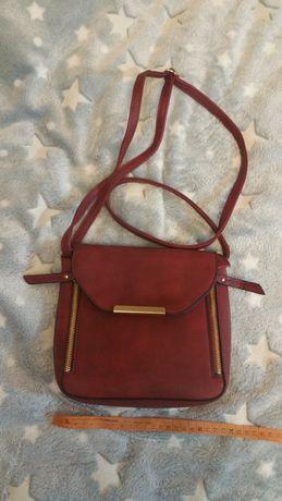 Красивая женская сумка, цвет марсала, новая